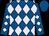 Royal blue, lavender diamonds, royal blue cap (Morris Bailey)