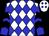 White, blue diamonds, black chevrons on blue slvs (Cooper, Steven B And Cucinotta, Salvatore)