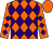 Orange, purple diamonds, orange cap (Dialf Racing)