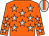 Orange, silver stars, orange stripe on silver cap (Charles Chan Kam Kwong, Bruce Lee Sing Keung & Yuen Shun Yiu)