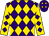 Purple, gold diamonds, purple diamonds on gold sleeves (Gary Singley)
