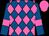 Royal blue, hot pink diamonds, hot pink bars on sleeves, hot pink cap (Gavin-ty Racing Llc)