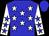 Blue body, white stars, white arms, blue stars, blue cap (B Durrheimer)