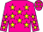 Dayglo pink, dayglo yellow stars (Mr Blackie Swart)