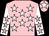 Pink, white stars, white sleeves, pink stars, pink cap, white star (Pink Tractor Syndicate (nom: Mrs Amanda Carey))