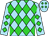 Sky blue, lime green diamonds (Equivine Farm)