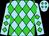 Sky blue, lime green diamonds (Equivine Farm)