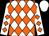 White, orange diamonds, white cap (Royce Roberts)