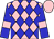 Pink Body, Blue Diamonds, Blue Arms, Pink Armlets, Pink Cap (G Heald)