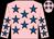 pink, royal blue stars (Mrs Tootsie Naidoo & Mr Vasie Naidoo)