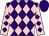 Purple and pink diamonds, pink sleeves, purple diamonds, purple cap (New Approach Racing Limited)