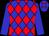 Blue, red diamonds, blue sleeves (Jose Romero)