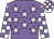 Mauve body, white stars, white arms, mauve checked, white cap, mauve checked (A Ren)