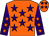 Orange, purple stars, purple sleeves, orange stars (David Smart)