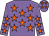 Mauve body, orange stars, mauve arms, orange stars, mauve cap, orange stars (T Marechal)