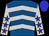 Royal blue, silver chevrons, silver sleeves, blue stars, blue cap (Summers, M , Scott)