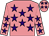 Shocking pink, purple stars, purple stars on shocking pink cap (Susan Moyer)