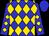 Blue and gold diamonds, blue cap (Harvey Blue, Jr)
