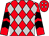 Red, silver diamonds, black chevrons on red sleeves (Lindali Racing)