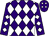 Purple, white diamonds, white diamonds on sleeves (Ralph Whitney)