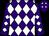 Purple, white diamonds, white diamonds on sleeves (Ralph Whitney)