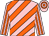 Pink, orange diagonal stripes, striped sleeves, hooped cap (Mr Tyrone Zackey)
