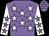 Mauve, white stars, white sleeves, mauve stars (Mr W J E Scott & Mrs M A Scott)