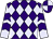 Purple and lavender diamonds, lavender sleeves, purple chevrons, purple and lavender quartered cap (Harold Lerner Llc, Awc Stables, Akman, Scott K And Nehoc Stables)