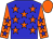 Blue, orange stars, orange sleeves, blue stars, orange cap (Michael Talla)