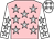 pink, silver stars, white sleeves, silver stars, white cap, silver stars (Mesdames N Ghirao & N Ghirao & C C Naidoo, Messrs)