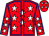 Red, white stars, blue seams (Bar C Racing Stables, Inc)