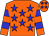 Orange, blue stars, blue hoops on sleeves (Edenvale Stable)