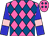 Hot pink, royal blue diamonds, pink bars on blue sleeves (Gavin-ty Racing Llc)