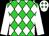 Lime green, white diamonds, white sleeves, white cap, lime green diamonds (U Schwinn)