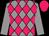 Grey body, rose diamonds, grey arms, rose cap (P Fellous/a Giaoui)