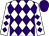 White, purple diamonds, purple cap (Diamond Racing, Inc , Janssen, J , Janssen, J , Camodeca, P And Camodeca, N)