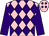 Pink, purple diamonds, purple sleeves (Edward Johnston Racing Stables, Inc)