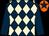 Dark blue & beige diamonds, dark blue sleeves, orange cap, dark blue star (D Furini)