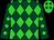 Dark green and lime diamonds, lime cap, dark green diamonds (Gillespie, Frank)