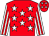 Red with white stars, red stripes on white sleeves (LARRY DARTER)