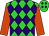 Lime green, purple diamonds, tangerine sleeves (A A Frost, J Hirst, L W Manning, J McIntyre, A J Tod, Mrs E A Manning & T S Howlett)