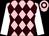Pink, brown diamonds, white sleeves, pink cap, brown hoop (Lianne Lam & Matthew Lam Kin Hong)