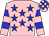 Pink, blue stars, hooped sleeves and checked cap (Care Free Syndicate)