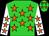 Lime, orange stars, orange stars on white sleeves (Mike Walker)