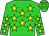 Green body, yellow stars, green arms, yellow stars, green cap, yellow stars (F Trippetta)