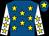 Royal blue, yellow stars, white sleeves, yellow stars, royal blue cap, yellow star (Mr Colin Stirling)