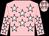 Pink, white stars, pink sleeves, white stars, pink cap, white stars (G Goeffic)