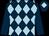 Dark blue and light blue diamonds, dark blue sleeves, dark blue cap, light blue diamond (Turbanators)