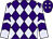 Purple, lavender diamonds, lavender sleeves, purple chevrons, lavender diamonds on cap (Harold Lerner Llc And Nehoc Stables)