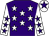 Purple body, white stars, white arms, purple stars, white cap, purple star (Mlle B Hermange/l Viel)